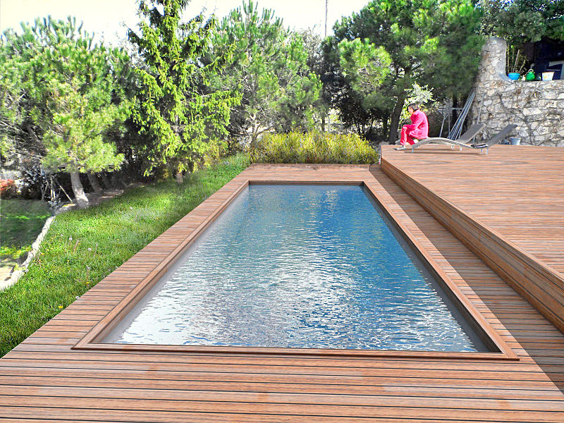 Construction installation d 39 am nagement en bois pour for Tarif piscine enterree posee